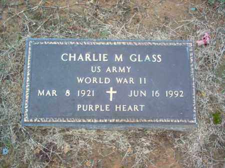 GLASS (VETERAN WWII), CHARLIE M - Cross County, Arkansas | CHARLIE M GLASS (VETERAN WWII) - Arkansas Gravestone Photos