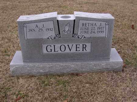 GLOVER, RETHA J - Cross County, Arkansas | RETHA J GLOVER - Arkansas Gravestone Photos