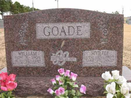 GOADE, WILLIAM - Cross County, Arkansas   WILLIAM GOADE - Arkansas Gravestone Photos