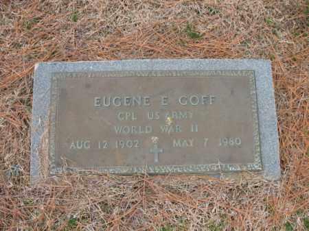 GOFF (VETERAN WWII), EUGENE E - Cross County, Arkansas | EUGENE E GOFF (VETERAN WWII) - Arkansas Gravestone Photos