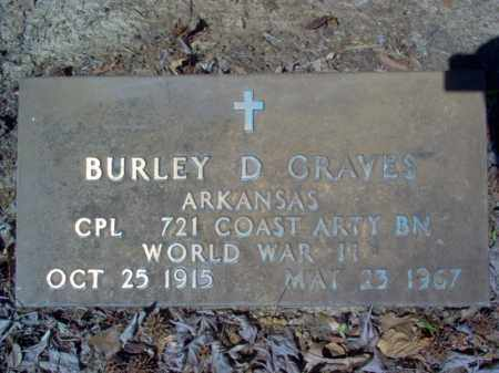 GRAVES (VETERAN WWII), BURLEY D - Cross County, Arkansas | BURLEY D GRAVES (VETERAN WWII) - Arkansas Gravestone Photos