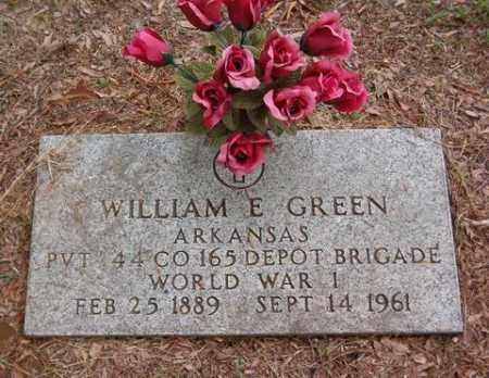 GREEN  (VETERAN WWI), WILLIAM E - Cross County, Arkansas | WILLIAM E GREEN  (VETERAN WWI) - Arkansas Gravestone Photos