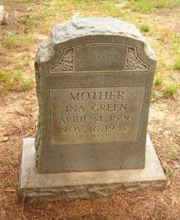GREEN, INA - Cross County, Arkansas   INA GREEN - Arkansas Gravestone Photos