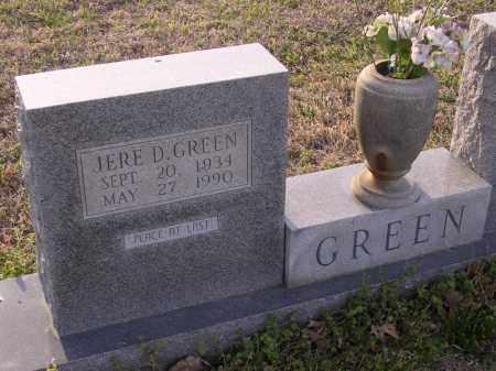 GREEN, JERE D - Cross County, Arkansas | JERE D GREEN - Arkansas Gravestone Photos