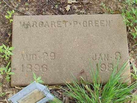GREEN, MARGARET P. - Cross County, Arkansas | MARGARET P. GREEN - Arkansas Gravestone Photos