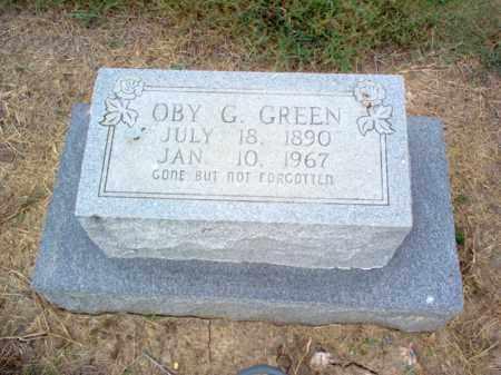 GREEN, OBY G - Cross County, Arkansas   OBY G GREEN - Arkansas Gravestone Photos