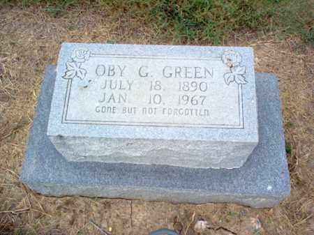 GREEN, OBY G - Cross County, Arkansas | OBY G GREEN - Arkansas Gravestone Photos