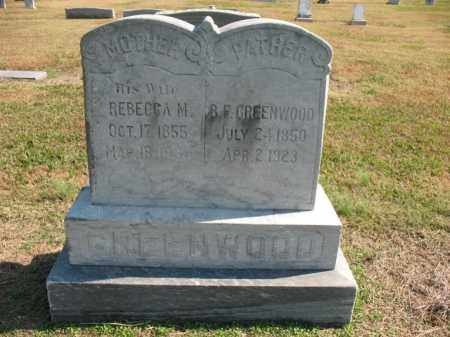 GREENWOOD, B F - Cross County, Arkansas | B F GREENWOOD - Arkansas Gravestone Photos