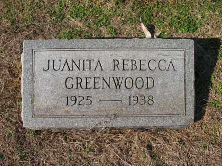 GREENWOOD, JUANITA REBECCA - Cross County, Arkansas | JUANITA REBECCA GREENWOOD - Arkansas Gravestone Photos