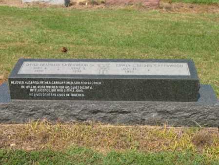 GREENWOOD, SR., DAVID FRANKLIN - Cross County, Arkansas | DAVID FRANKLIN GREENWOOD, SR. - Arkansas Gravestone Photos