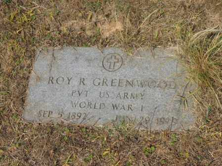 GREENWOOD (VETERAN WWI), ROY R - Cross County, Arkansas | ROY R GREENWOOD (VETERAN WWI) - Arkansas Gravestone Photos