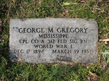 GREGORY (VETERAN WWI), GEORGE M - Cross County, Arkansas | GEORGE M GREGORY (VETERAN WWI) - Arkansas Gravestone Photos