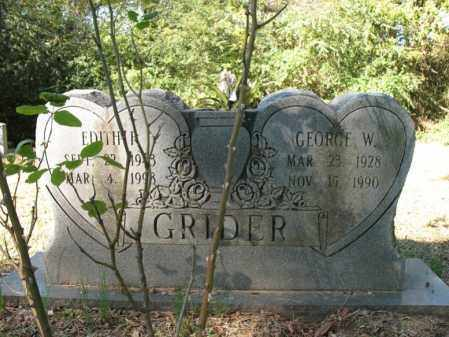 GRIDER, GEORGE W - Cross County, Arkansas | GEORGE W GRIDER - Arkansas Gravestone Photos