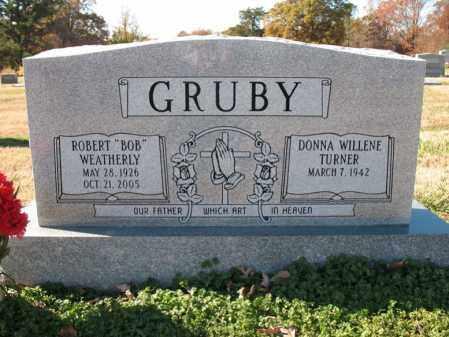 GRUBY, ROBERT WEATHERLY - Cross County, Arkansas | ROBERT WEATHERLY GRUBY - Arkansas Gravestone Photos