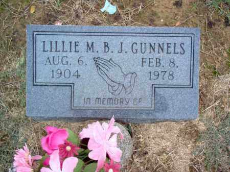 GUNNELS, LILLIE M B J - Cross County, Arkansas | LILLIE M B J GUNNELS - Arkansas Gravestone Photos