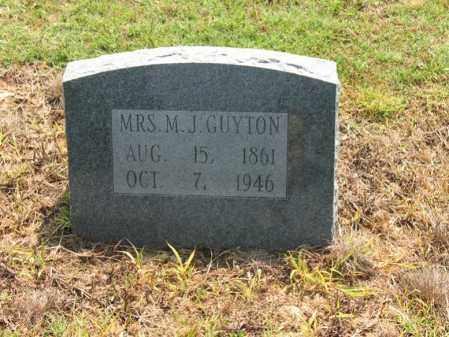 GUYTON, MRS., M J - Cross County, Arkansas   M J GUYTON, MRS. - Arkansas Gravestone Photos