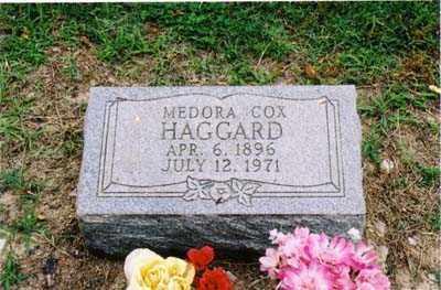 COX HAGGARD, MEDORA - Cross County, Arkansas   MEDORA COX HAGGARD - Arkansas Gravestone Photos