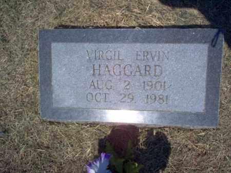 HAGGARD, VIRGIL ERVIN - Cross County, Arkansas | VIRGIL ERVIN HAGGARD - Arkansas Gravestone Photos