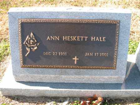 HALE, ANN - Cross County, Arkansas | ANN HALE - Arkansas Gravestone Photos