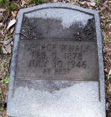 HALK, GEORGE W. - Cross County, Arkansas | GEORGE W. HALK - Arkansas Gravestone Photos