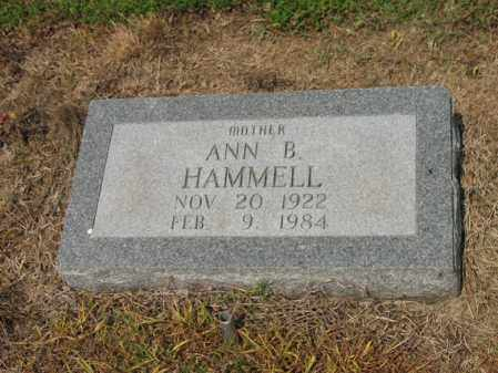 HAMMELL, ANN B - Cross County, Arkansas | ANN B HAMMELL - Arkansas Gravestone Photos