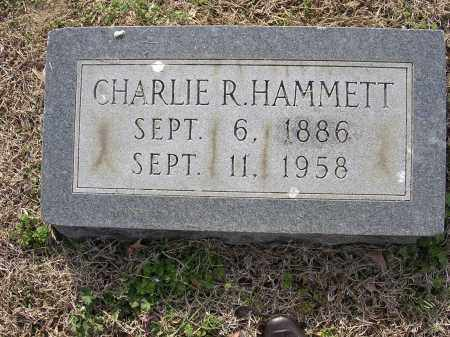 HAMMETT, CHARLIE R - Cross County, Arkansas | CHARLIE R HAMMETT - Arkansas Gravestone Photos