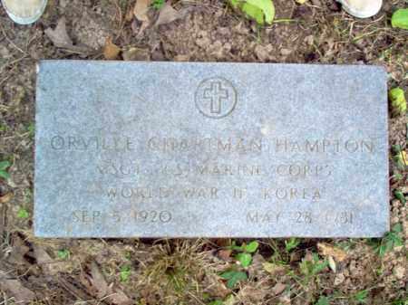 HAMPTON (VETERAN 2 WARS), ORVILLE CHAPTMAN - Cross County, Arkansas | ORVILLE CHAPTMAN HAMPTON (VETERAN 2 WARS) - Arkansas Gravestone Photos
