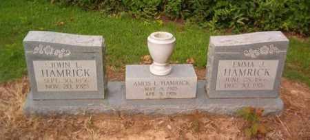 HAMRICK, JOHN L. - Cross County, Arkansas   JOHN L. HAMRICK - Arkansas Gravestone Photos
