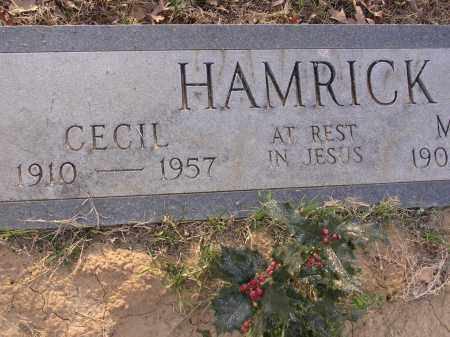HAMRICK, CECIL - Cross County, Arkansas | CECIL HAMRICK - Arkansas Gravestone Photos