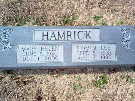 HAMRICK, HOMER LEE - Cross County, Arkansas | HOMER LEE HAMRICK - Arkansas Gravestone Photos
