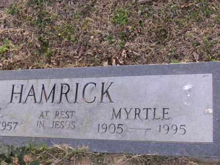 HAMRICK, MYRTLE - Cross County, Arkansas | MYRTLE HAMRICK - Arkansas Gravestone Photos