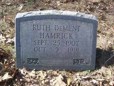 DEMENT HAMRICK, RUTH - Cross County, Arkansas | RUTH DEMENT HAMRICK - Arkansas Gravestone Photos