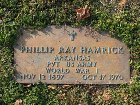 HAMRICK (VETERAN WWI), PHILLIP RAY - Cross County, Arkansas | PHILLIP RAY HAMRICK (VETERAN WWI) - Arkansas Gravestone Photos