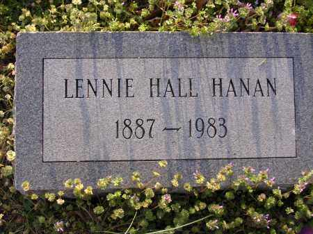 HANAN, LENNIE HALL - Cross County, Arkansas | LENNIE HALL HANAN - Arkansas Gravestone Photos