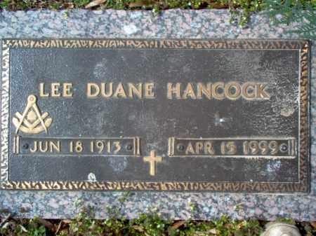 HANCOCK, LEE DUANE - Cross County, Arkansas   LEE DUANE HANCOCK - Arkansas Gravestone Photos