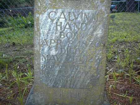 HAND, CALVIN M - Cross County, Arkansas | CALVIN M HAND - Arkansas Gravestone Photos