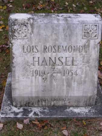HANSEL, LOIS ROSEMONDE - Cross County, Arkansas   LOIS ROSEMONDE HANSEL - Arkansas Gravestone Photos