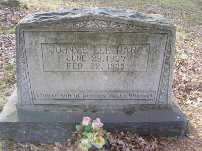 HARE, JOHNNIE LEE - Cross County, Arkansas | JOHNNIE LEE HARE - Arkansas Gravestone Photos
