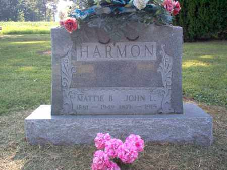 HARMON, JOHN L - Cross County, Arkansas | JOHN L HARMON - Arkansas Gravestone Photos