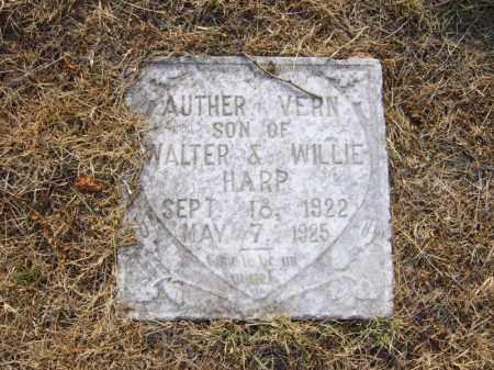 HARP, AUTHER VERN - Cross County, Arkansas | AUTHER VERN HARP - Arkansas Gravestone Photos