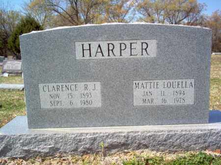 HARPER, CLARENCE RUFUS J - Cross County, Arkansas | CLARENCE RUFUS J HARPER - Arkansas Gravestone Photos