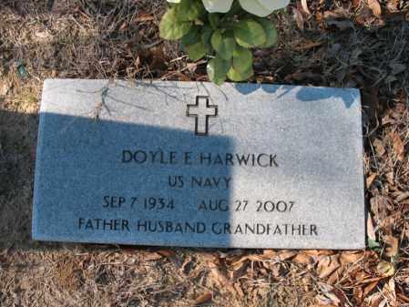 HARWICK (VETERAN), DOYLE E - Cross County, Arkansas   DOYLE E HARWICK (VETERAN) - Arkansas Gravestone Photos