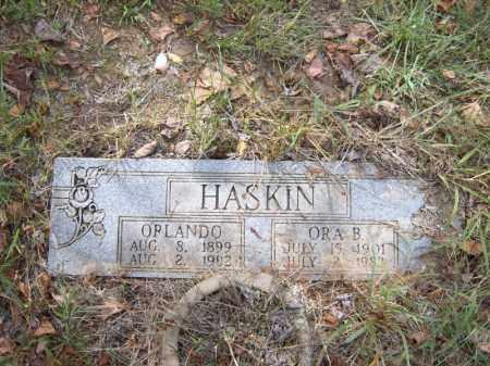 HASKIN, ORA B - Cross County, Arkansas | ORA B HASKIN - Arkansas Gravestone Photos
