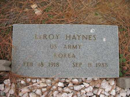 HAYNES (VETERAN KOR), LEROY - Cross County, Arkansas | LEROY HAYNES (VETERAN KOR) - Arkansas Gravestone Photos