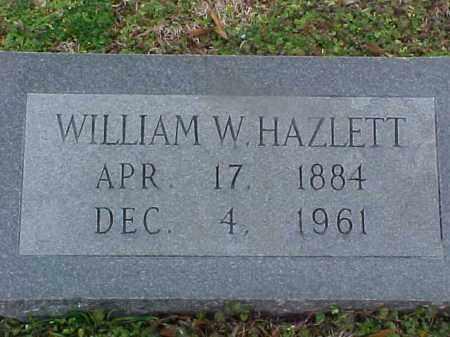 HAZLETT, WILLIAM W - Cross County, Arkansas | WILLIAM W HAZLETT - Arkansas Gravestone Photos