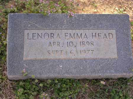HEAD, LENORA EMMA - Cross County, Arkansas | LENORA EMMA HEAD - Arkansas Gravestone Photos