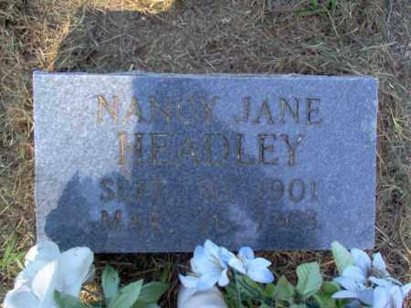 HEADLEY, NANCY JANE - Cross County, Arkansas | NANCY JANE HEADLEY - Arkansas Gravestone Photos