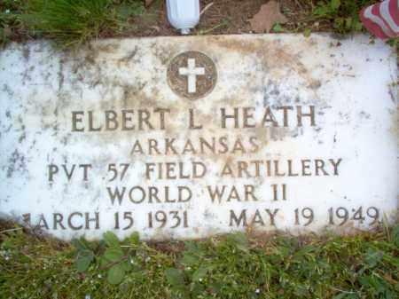 HEATH (VETERAN WWII), ELBERT L - Cross County, Arkansas | ELBERT L HEATH (VETERAN WWII) - Arkansas Gravestone Photos