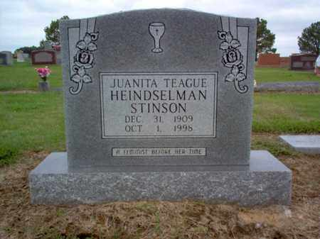 HEINDSELMAN-STINSON, JUANITA - Cross County, Arkansas | JUANITA HEINDSELMAN-STINSON - Arkansas Gravestone Photos