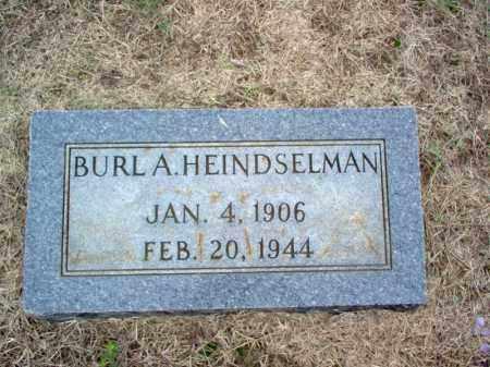 HEINDSELMAN, BURL A - Cross County, Arkansas | BURL A HEINDSELMAN - Arkansas Gravestone Photos